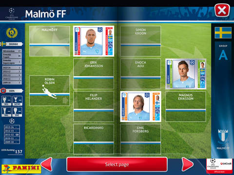 UCL 14-15 Virtual Sticker Collection screenshot #5
