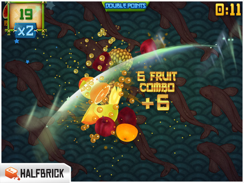 Fruit Ninja HD screenshot 2