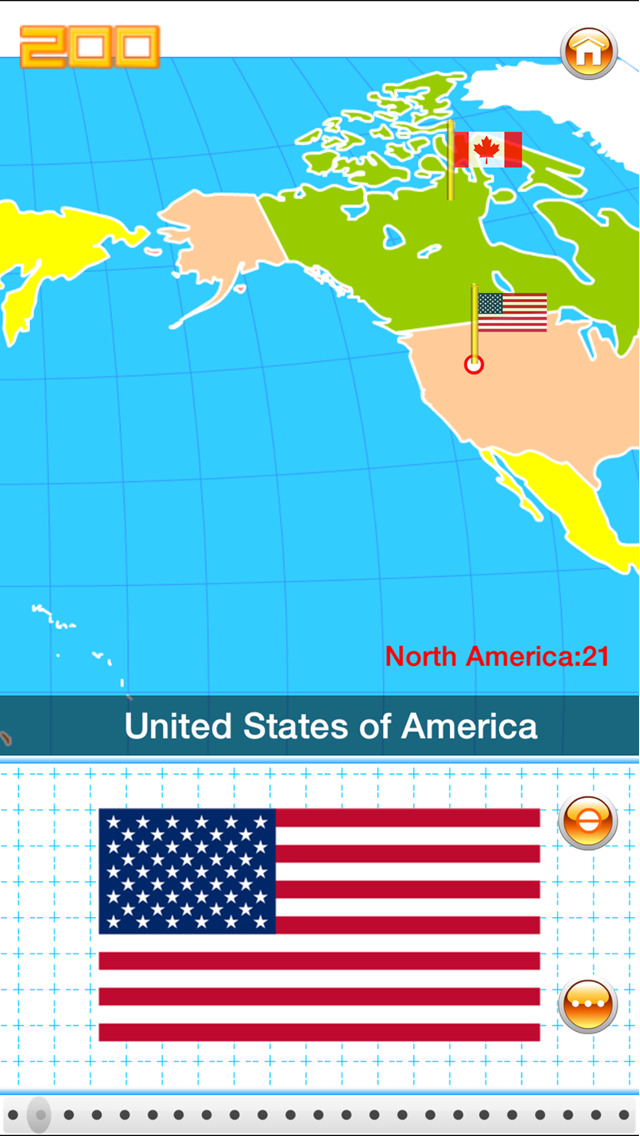 Flag on the world map screenshot 2