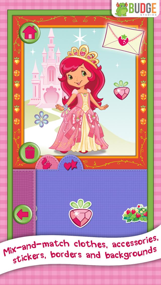 Strawberry Shortcake Card Maker Dress Up - Fashion Makeover Game for Kids screenshot 2