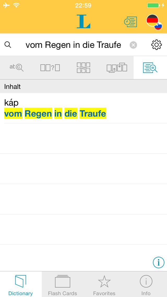 German Slovenian Dictionary screenshot 2