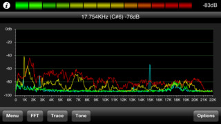 Pocket RTA - Spectrum Analyser screenshot 1