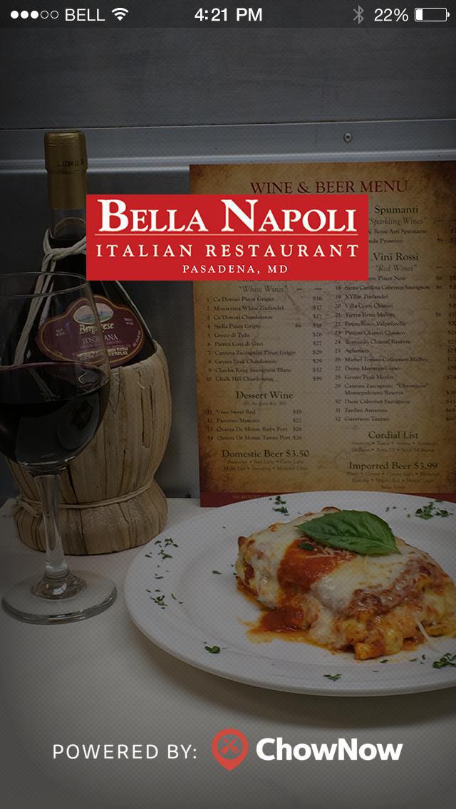 Bella Napoli Restaurant screenshot 1