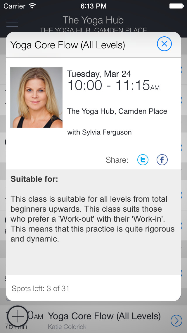 YogaHub screenshot 2
