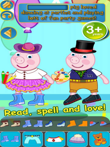 My Interactive Happy Little Pig Story Book Dress Up Time Game - Advert Free App screenshot 8