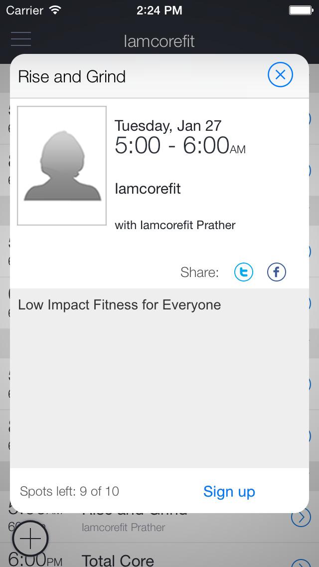 Iamcorefit screenshot 2