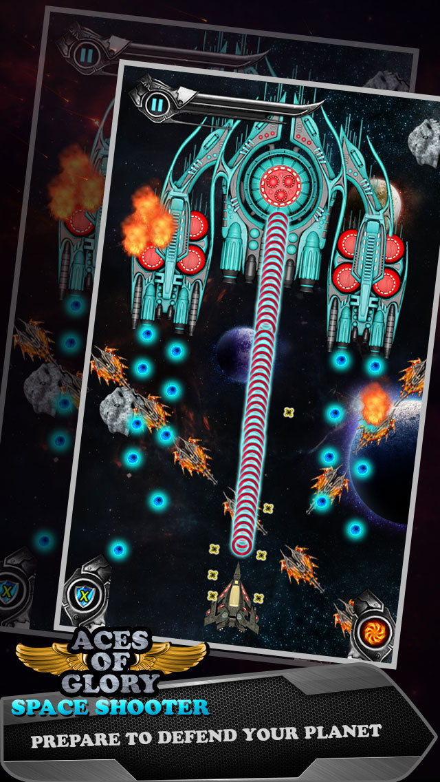 Aces of Glory in Galaxy - Defying Gravity and Targeting Alien Planet screenshot 2