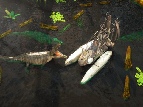 3D Swamp Parking - Real Speed Boat Simulator Driving & Racing Games screenshot 6