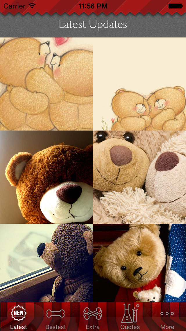 Teddy Bear Art Theme HD Wallpaper and Best Inspirational Quotes Backgrounds Creator screenshot 1