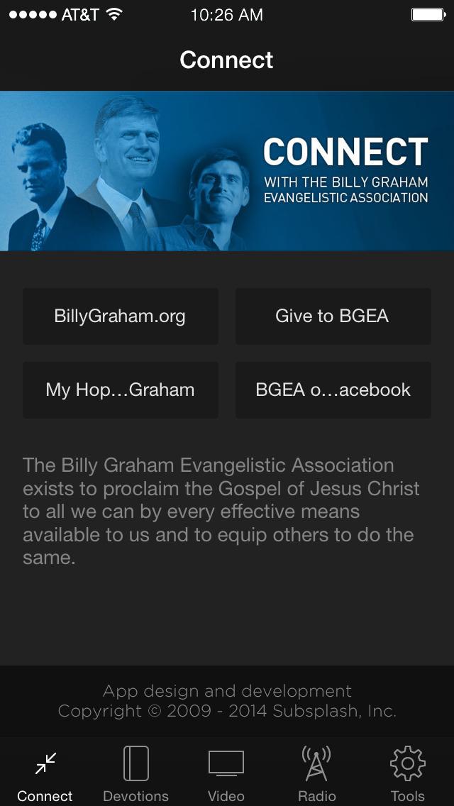 Billy Graham Evangelistic Assn screenshot 1