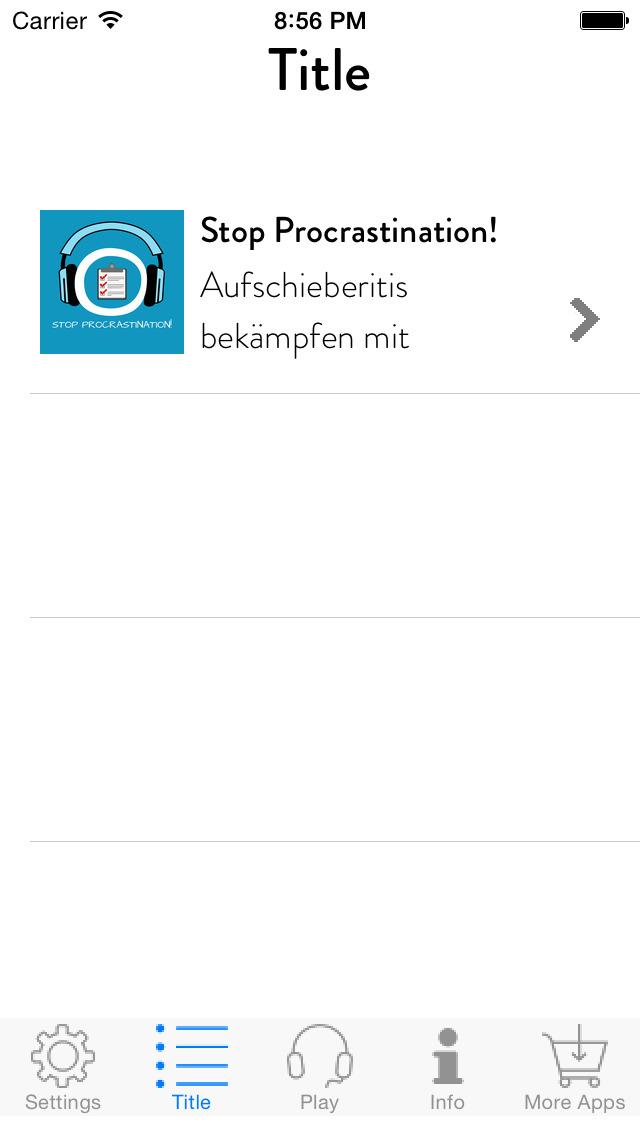 Stop Procrastination! Aufschieberitis bekämpfen mit Hypnose screenshot 2