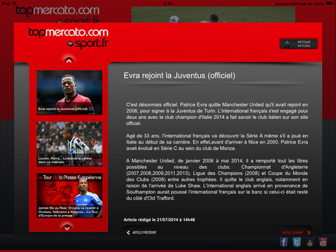Actu foot : Top mercato pour iPad - náhled