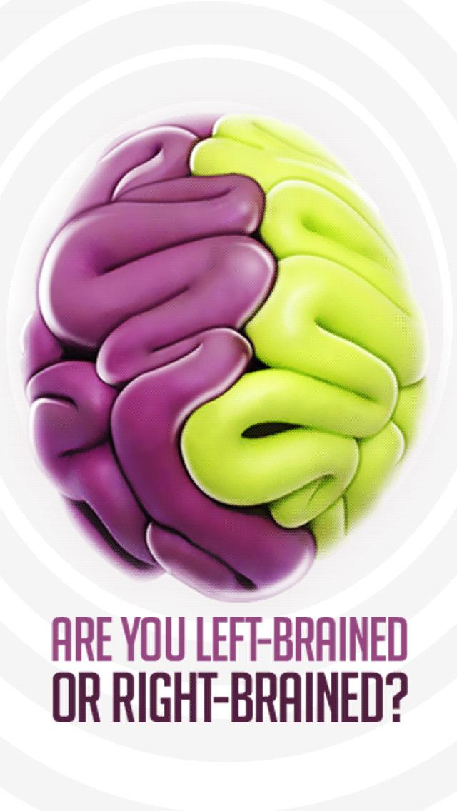 Cerebral hemispheres: how do you use your brain? screenshot #1