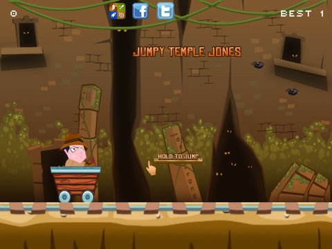 ``Action Race of Jumpy Temple Jones: Mine-Cart Rail Escape Racing Free screenshot 5