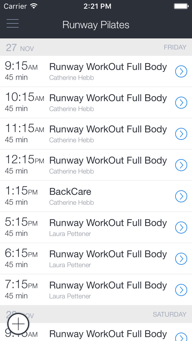 Runway Pilates Mobile screenshot 1