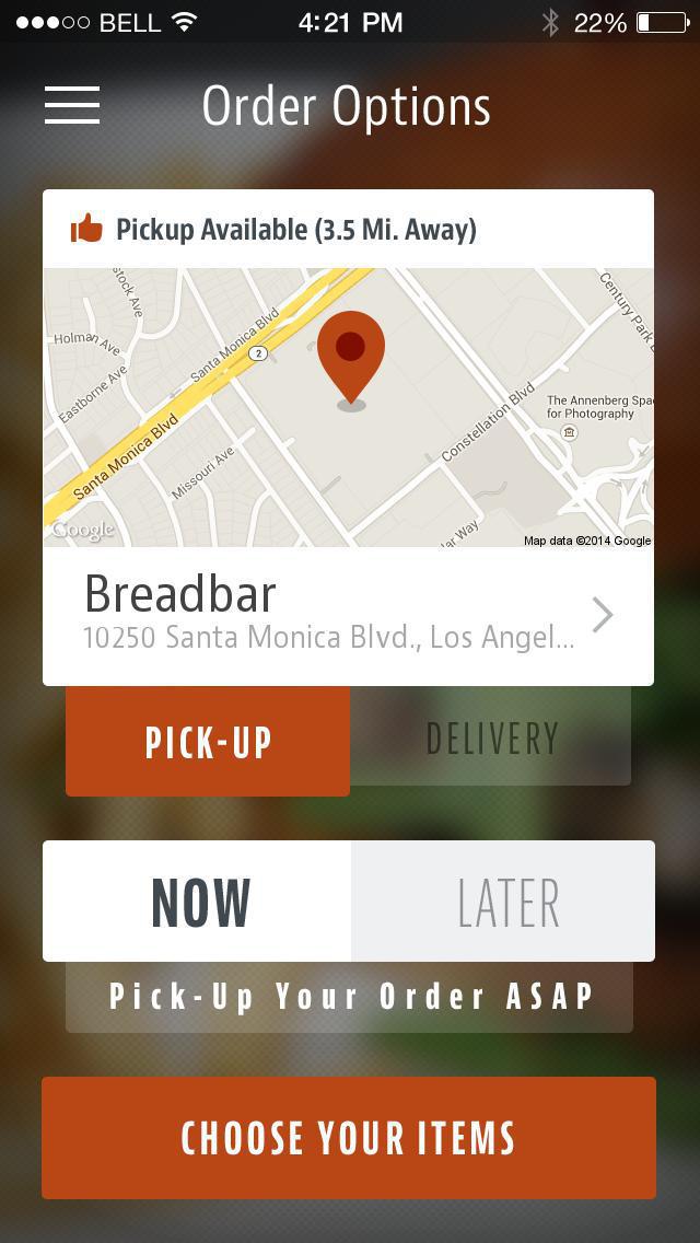 Breadbar screenshot 2