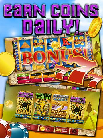 Slots - Pyramid's Way (Magic Journey of Gold Casino Dash) - FREE screenshot 7