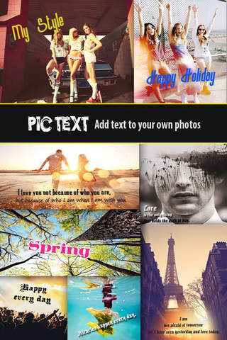 Pic Text Pro - Typography Photo Editor to add capt - náhled