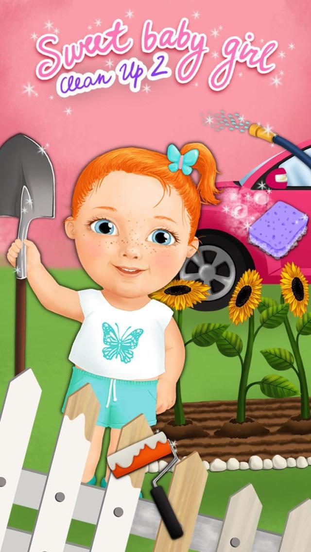 Sweet Baby Girl Clean Up 2 - My House, Garden and Garage (No Ads) screenshot 1