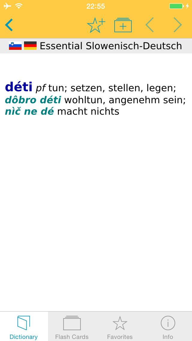 German Slovenian Dictionary screenshot 1