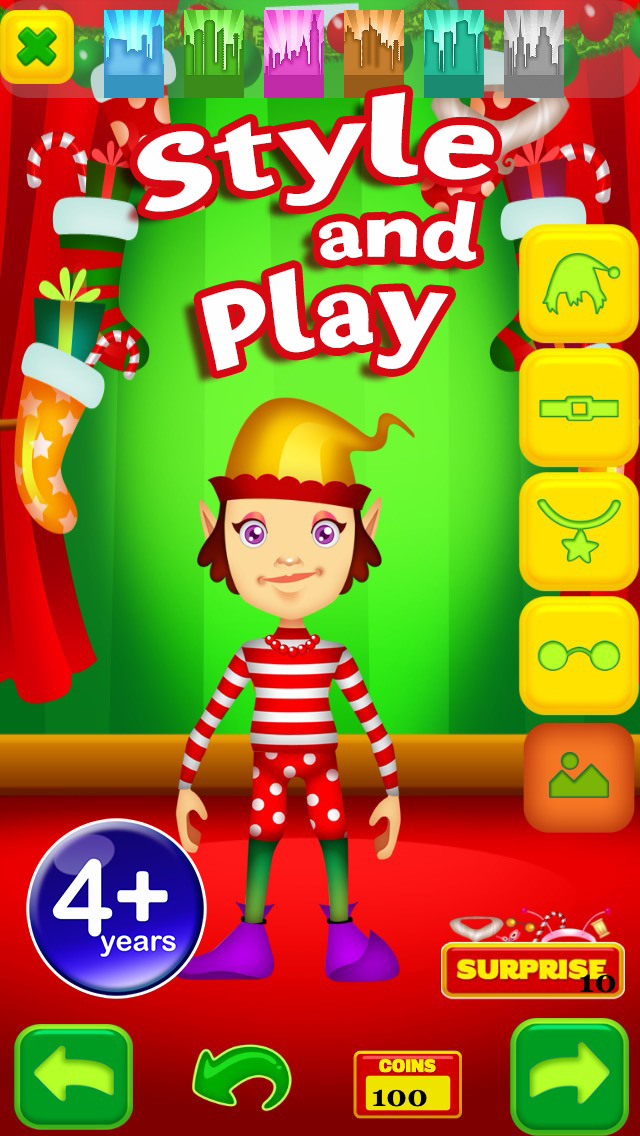 My Magic Little Elf and Fairy Princess Dream Xmas Party Adventure Dress Up Game Advert Free screenshot 3