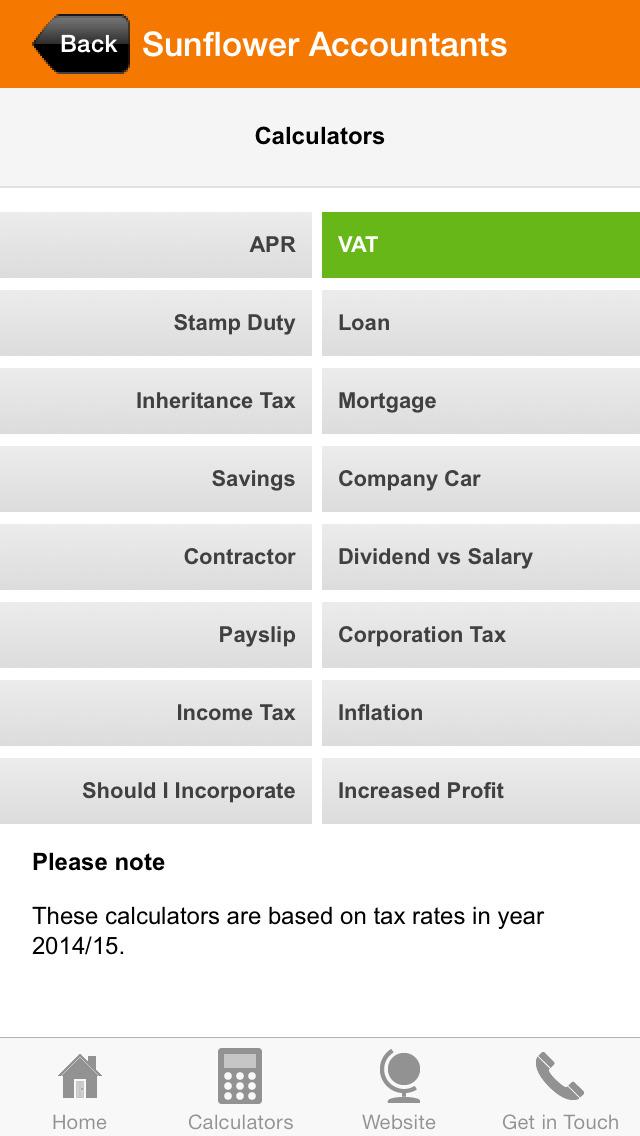 Sunflower Accountants screenshot #3