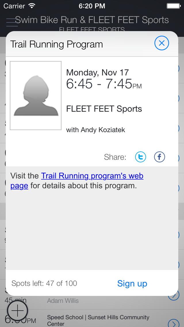FLEET FEET and Swim Bike Run screenshot 2