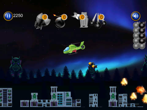 A1 Helicopter Monster Rampage Pro - cool airplane shooting mission game screenshot 5