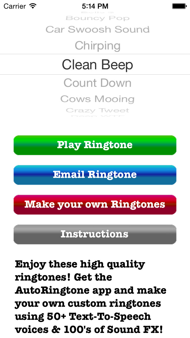 RingtoneRecords: 100 Text Tones screenshot 1