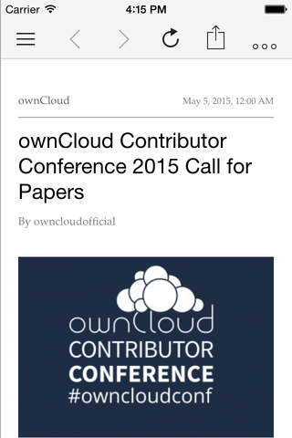 CloudNews – ownCloud News Reader - náhled