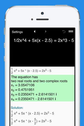 Quartic Equation Calculator - náhled