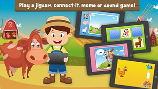 Milo's Mini Games for Tots, Toddlers and Kids of age 3-6 - Barn and Farm Animals Cartoon screenshot 2