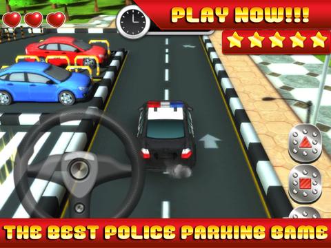 Action Police Car Parking Simulator 3D - Real Test Driving Game screenshot 6