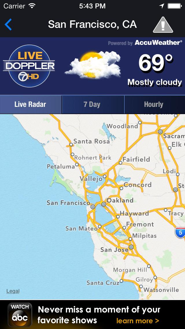 ABC7 Weather: SF/Bay Area screenshot 2