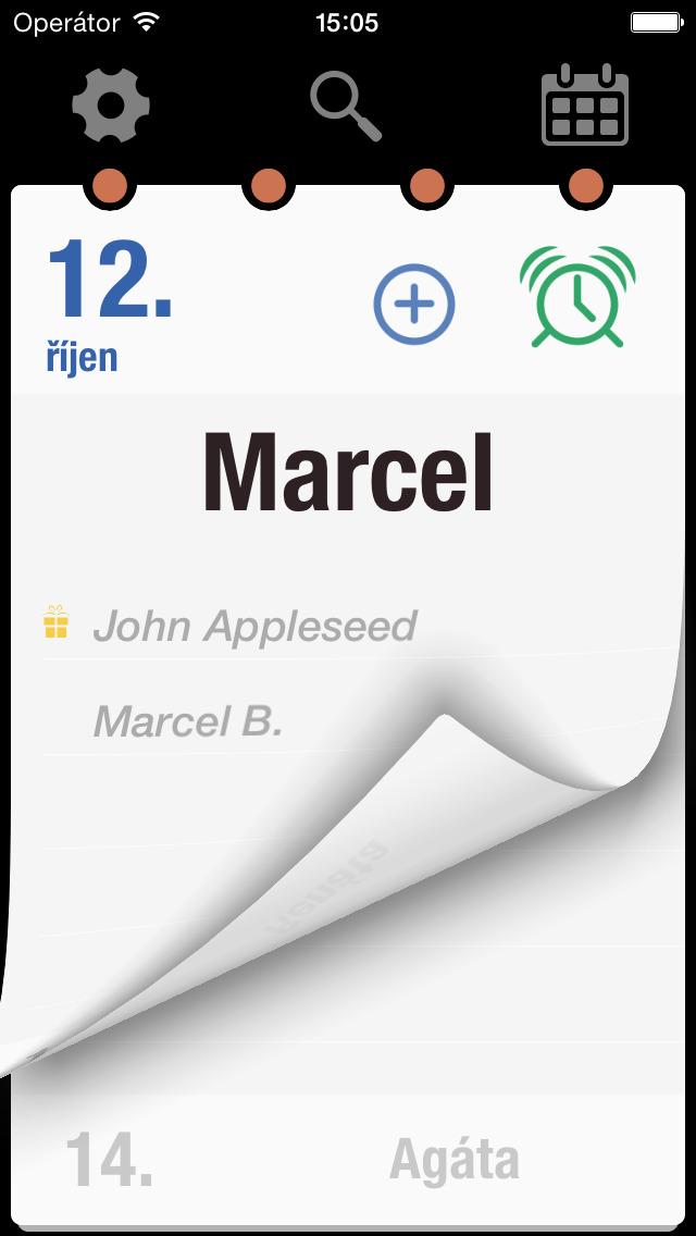 Kalendář jmen CZ screenshot 1