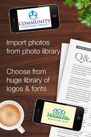 InstaLogo Logo Creator - Graphics maker for logos, - náhled