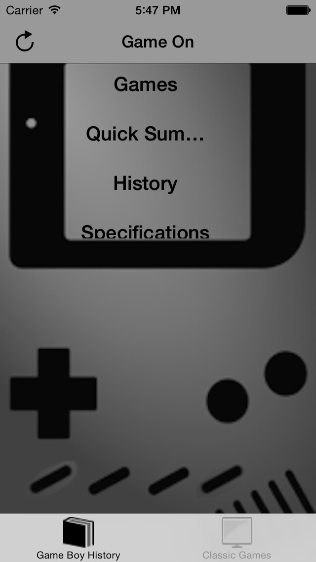 Classic games and History for Gameboy Color screenshot 2