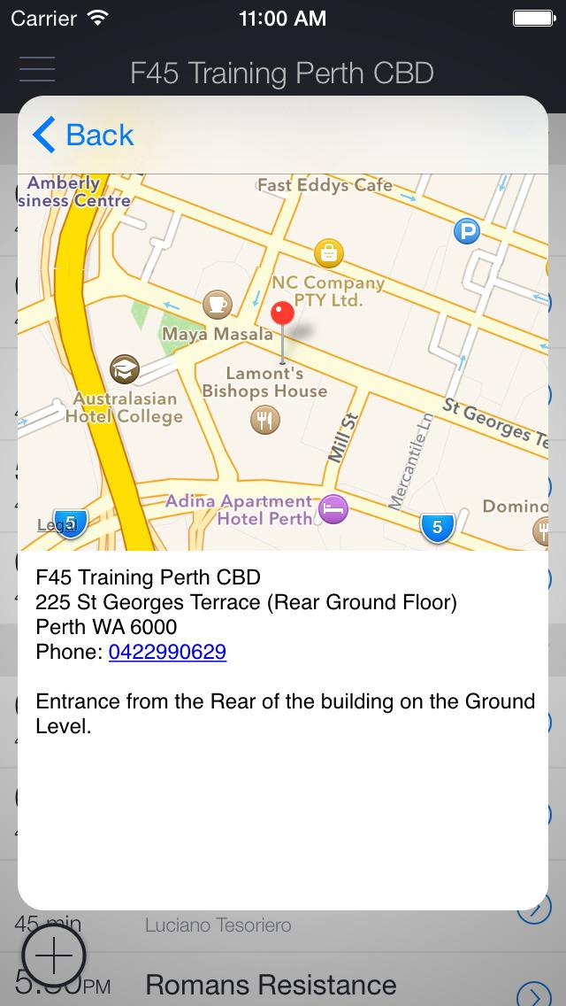 F45 Perth CBD Class Check In screenshot 2