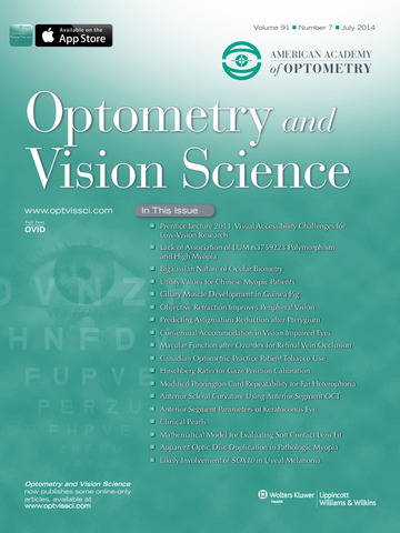 Optometry and Vision Science - náhled