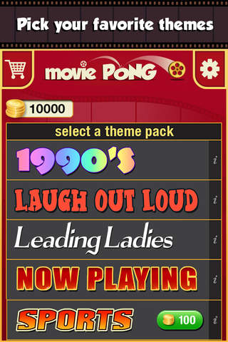 Movie Pong Challenge - Best Free Trivia Game App - náhled