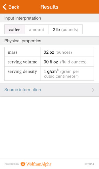Wolfram Culinary Mathematics Reference App screenshot 5