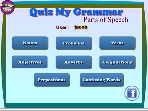 Quiz My Grammar Parts of Speech Lite screenshot 5