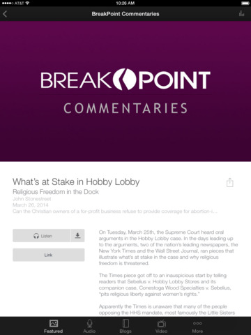 BreakPoint / Colson Center screenshot 6