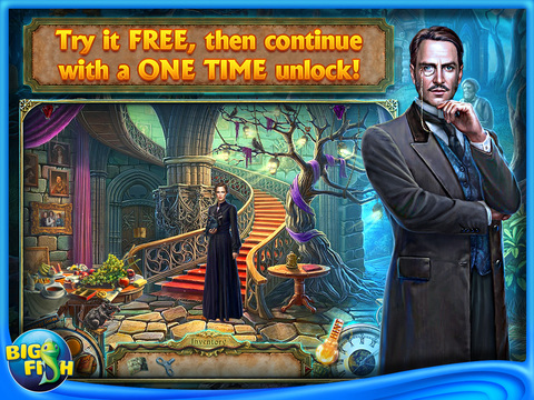 Dark Tales: Edgar Allan Poe's The Fall of the House of Usher HD - A Detective Mystery Game screenshot 1