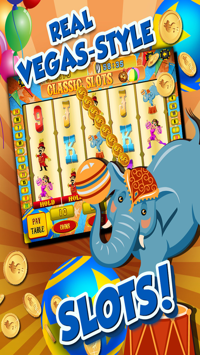 Ace Circus Vegas Slots - Lucky Big Win Classic Jackpot Slot Machine Casino Games Free screenshot 4