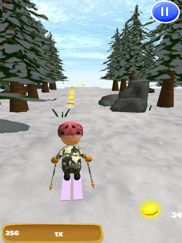 A Downhill Snow Skier: 3D Mountain Skiing Game - FREE Edition screenshot 9