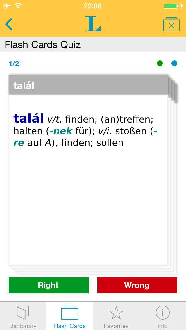 German Hungarian Dictionary screenshot 3