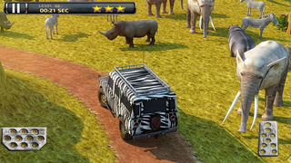 3D Safari Parking Free - Realistic Lion, Rhino, Elephant, and Zebra Adventure Simulator Games screenshot 3