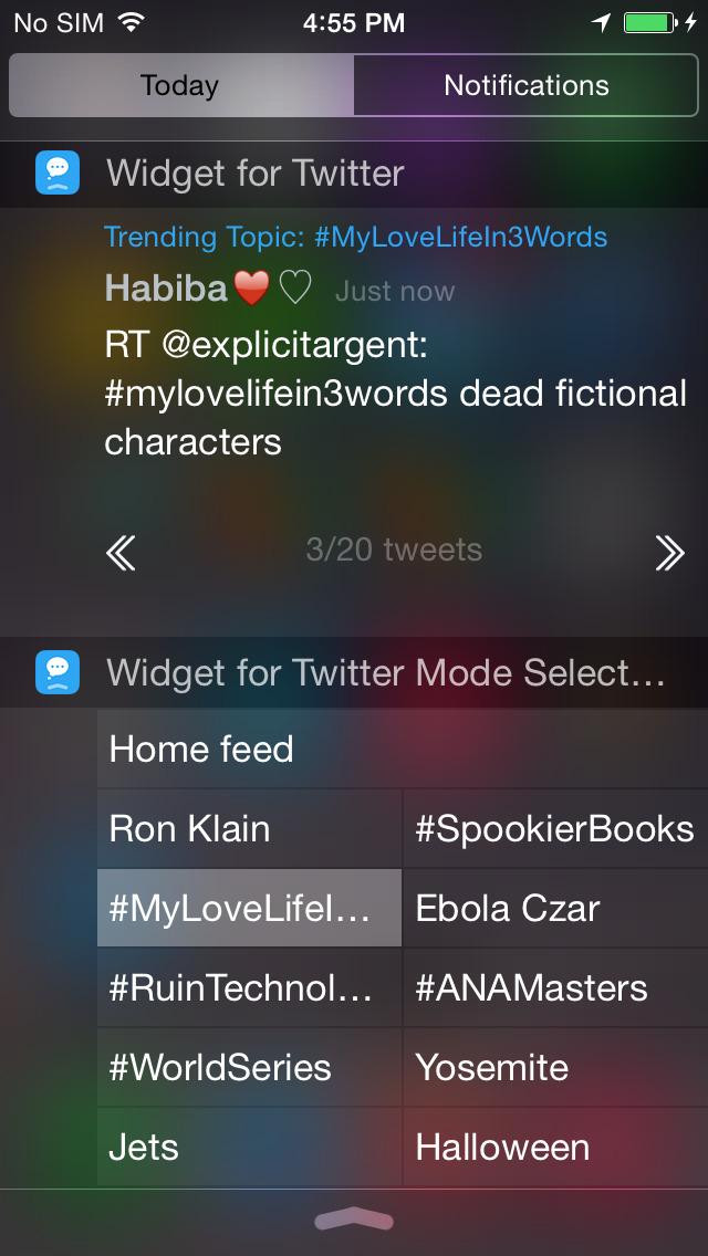 Widget for Twitter screenshot 2