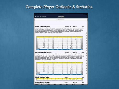 RotoWire Fantasy Baseball Guide 2015 screenshot 4